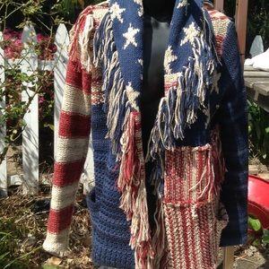 Ralph Lauren denim supply flag sweater coat